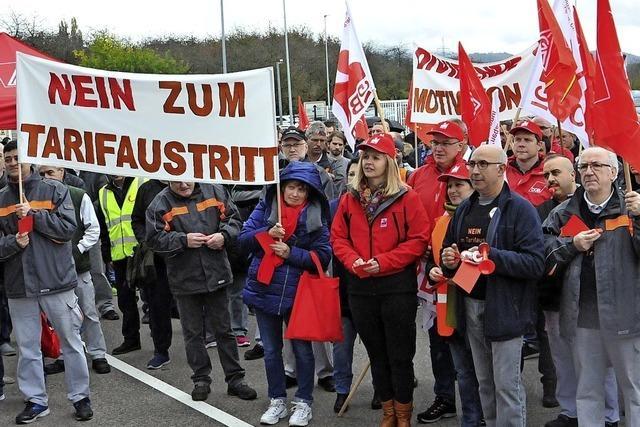 Protest gegen Abschied vom Flächentarif