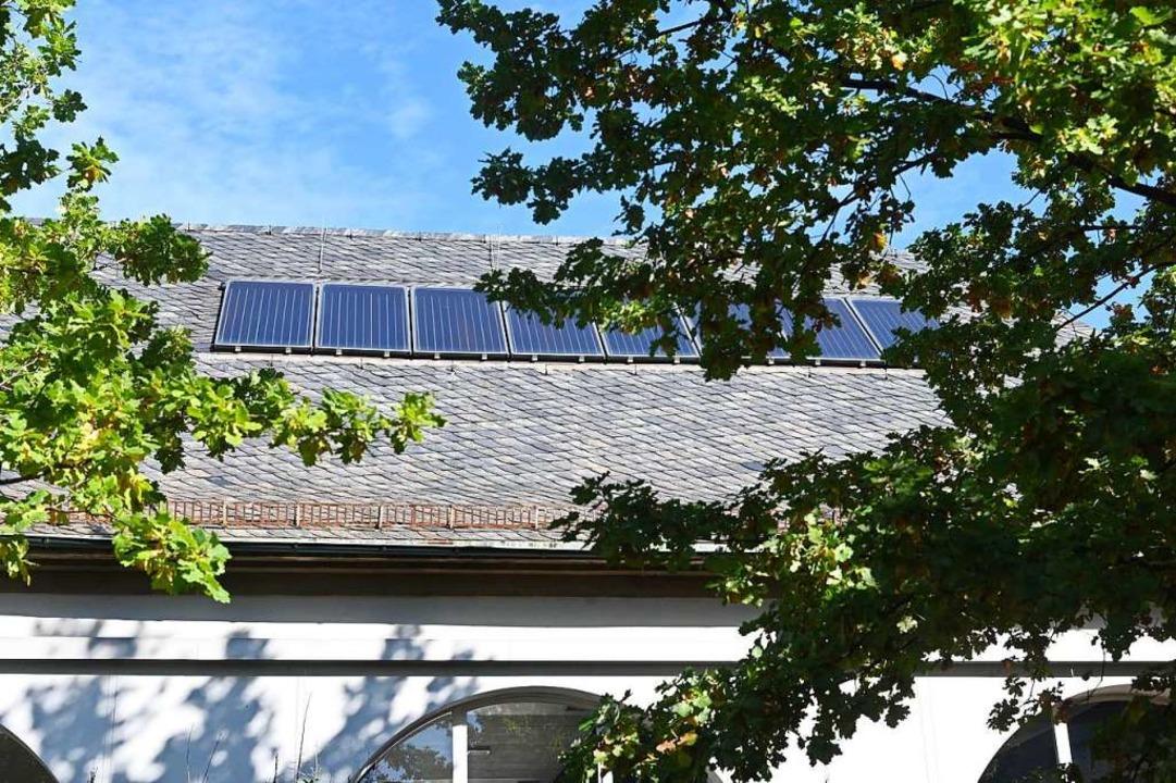 Das Dach der Sporthalle der Fridolinschule.  | Foto: Jonas Hirt