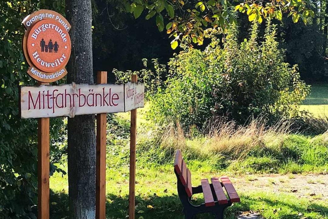 Mitfahrbänkle in Heuweiler: Nicht nur ...nschen werden durch die Bänke mobiler.  | Foto: Bernhard Amelung