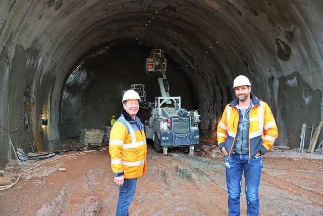 Am Brandbergtunnel soll drei Mal täglich gesprengt werden