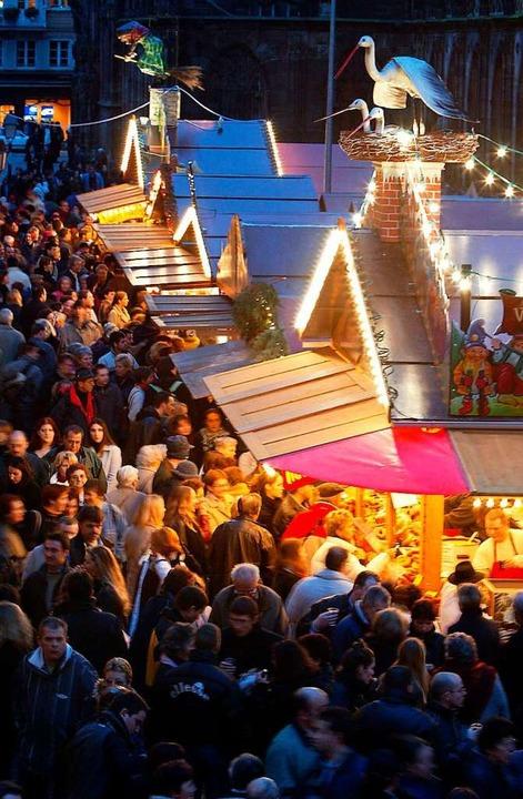 So wie auf dem Weihnachtsmarkt in Stra...oll es bald auch in New York aussehen.  | Foto: PIERRE ANDRIEU