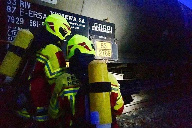 Brand an Güterzug verläuft glimpflich
