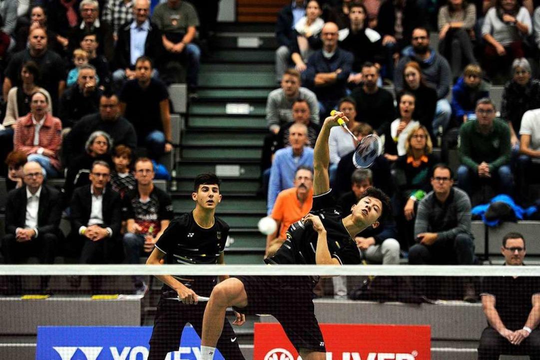 Das Doppel Kian Yu-Oei/Malik Bourakkad... das deutsche Team mit 2:0 in Führung.  | Foto: Pressebüro Schaller