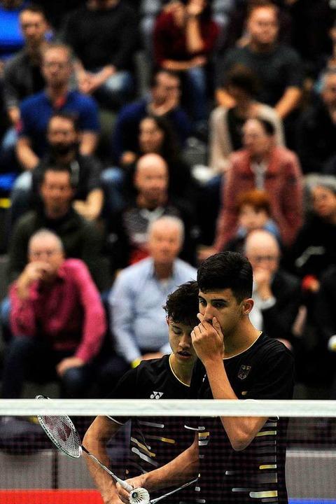Kian Yu-Oei/Malik Bourakkadi hecken etwas aus.  | Foto: Pressebüro Schaller