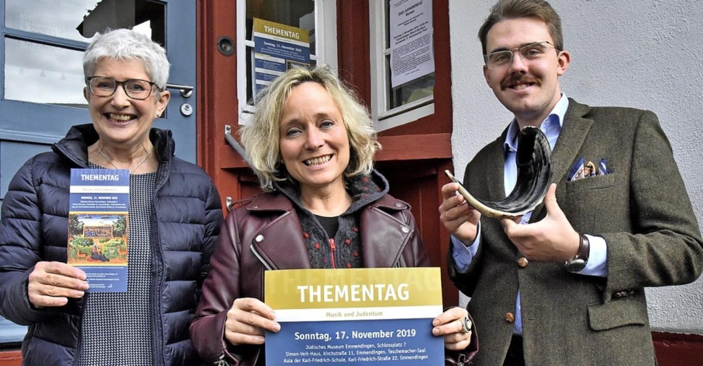 Carola Grasse (von links), Monika Rach...fältigen Thementag Musik und Judentum.  | Foto: Markus Zimmermann