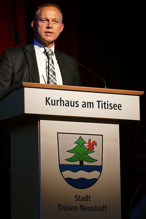 Armin Hinterseh bei seinem Abschied  | Foto: Peter Stellmach
