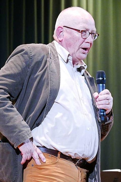 Klaus Menner bei seinem Auftritt  | Foto: Peter Stellmach