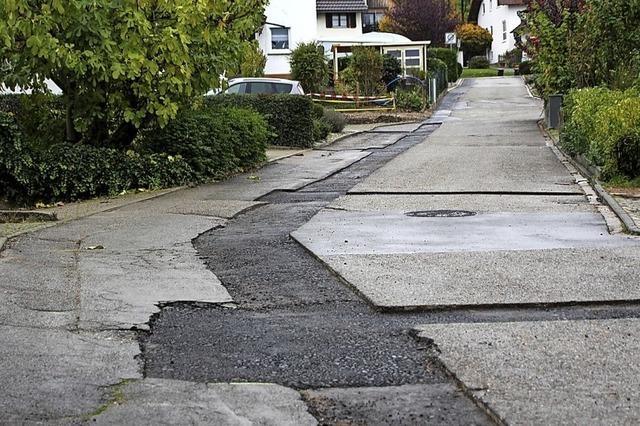 Straße muss saniert werden