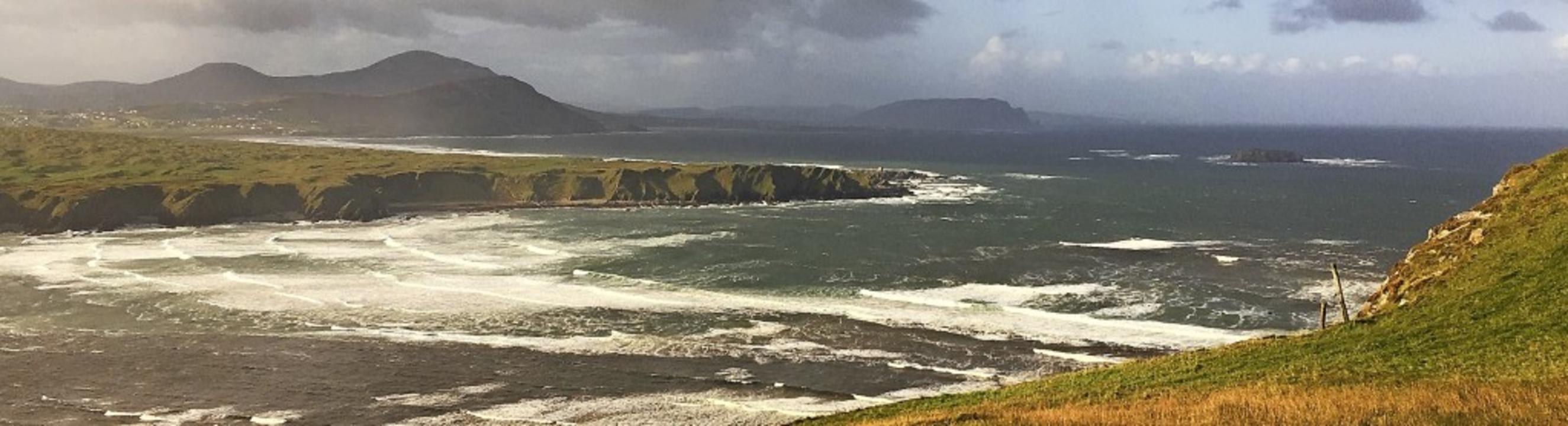 Grandiose Natur, meist vom Wind umtost...n Head, der nördlichste Punkt  Irlands    Foto: Michael Dörfler