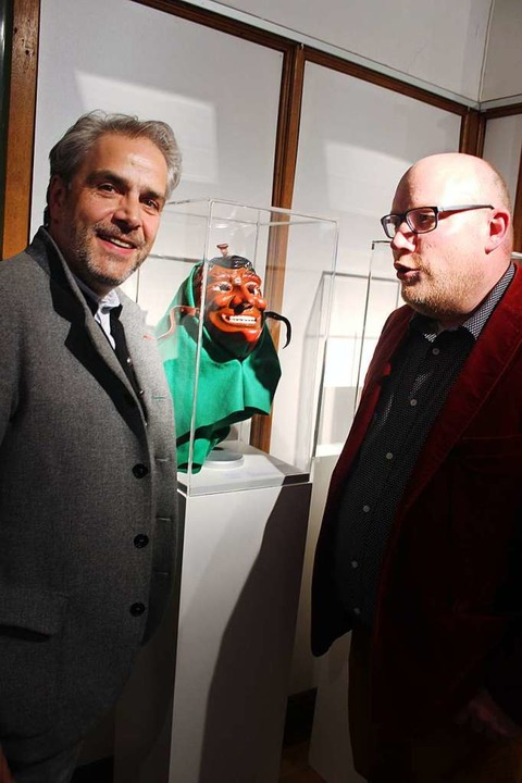 Wolfgang Koch (links) und Philipp Häss...#8220; heute in einem Museum in Basel.  | Foto: Bernd Fackler