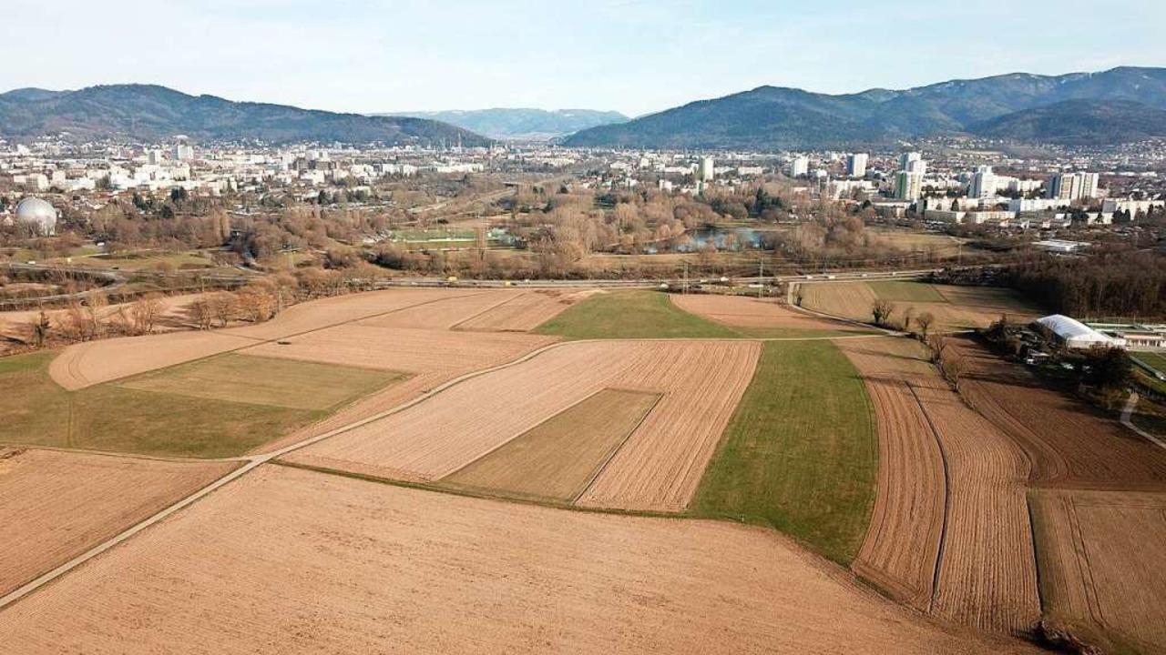 Der Standort des geplanten Stadtteils ... den aktuellen Stand des Projekts vor.  | Foto: Michael Saurer