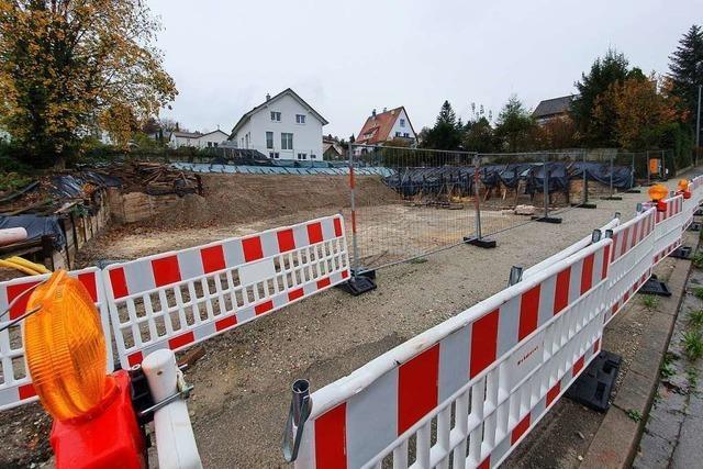 Die Baustelle in der Burgheimer Straße sorgt für Sorgenfalten