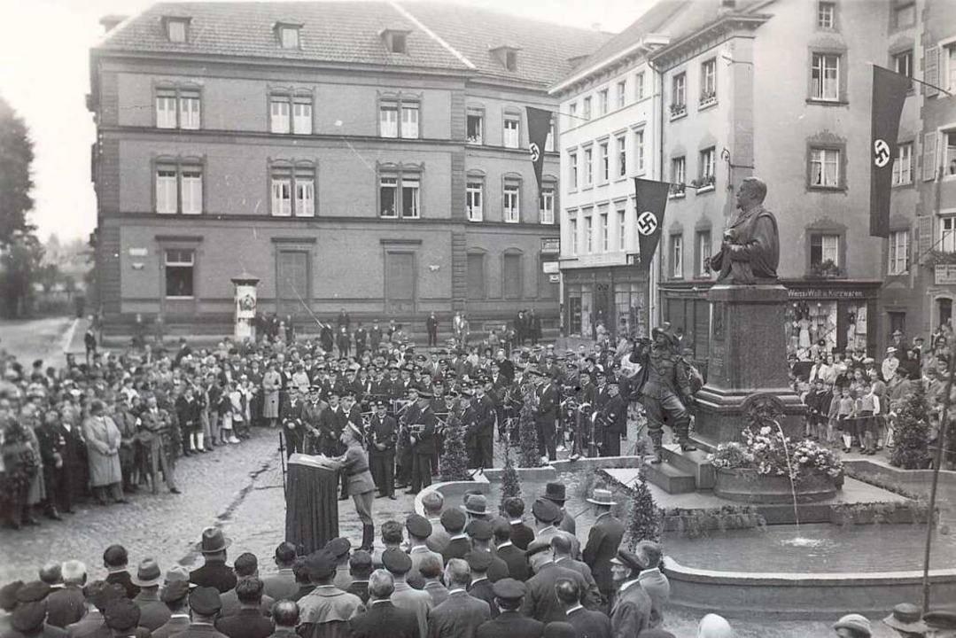 Solche groß angelegten Propagandaveran...tkriegs regelmäßig in Säckingen statt.  | Foto: Stadtarchiv Bad Säckingen