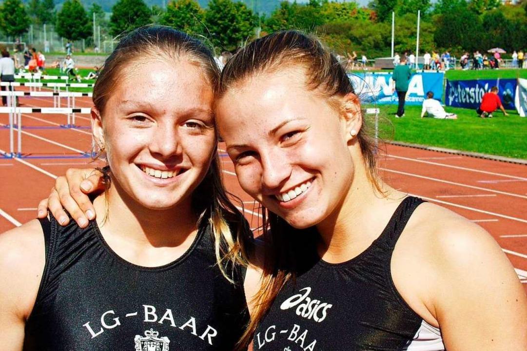 Als Jugendliche gehörte Folkerts (rech...en mit Tatjana Steidle fürs DM-Finale.  | Foto: Ottmar Heiler