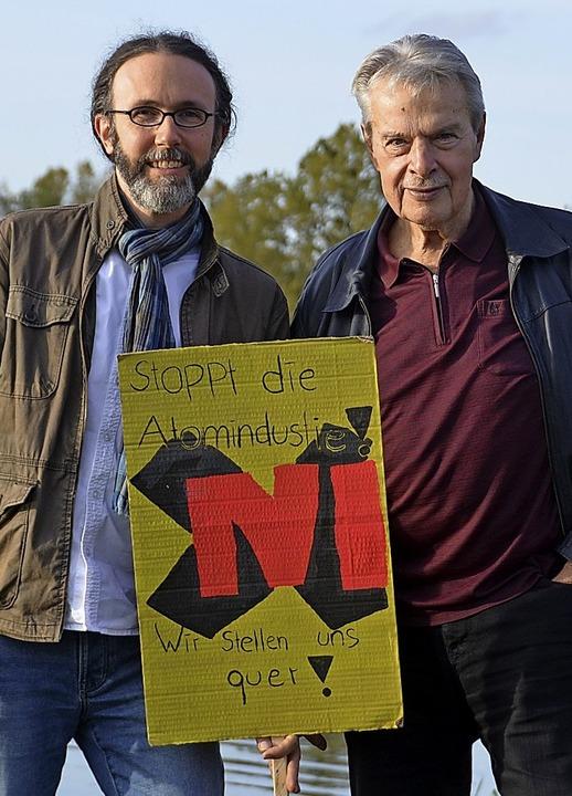 Christopher Kern und  Hans Weide (rechts)    Foto: Stefan Hupka