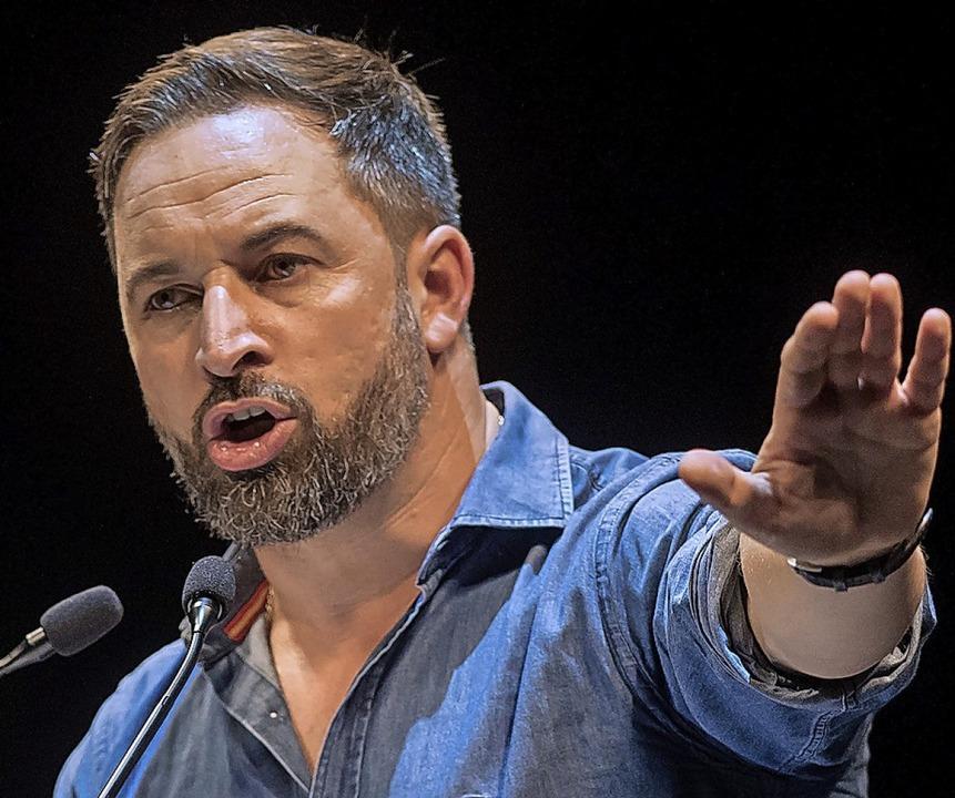 Santiago Abascal von der rechtsradikalen Vox  | Foto: ANDER GILLENEA (AFP)