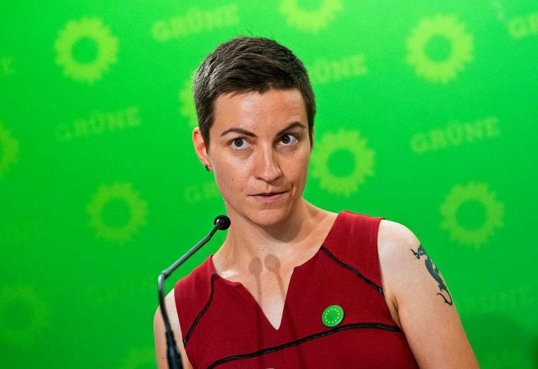 Ska Keller (37), damals  Schülerin, heute für die Grünen im EU-Parlament  | Foto: Paul Zinken