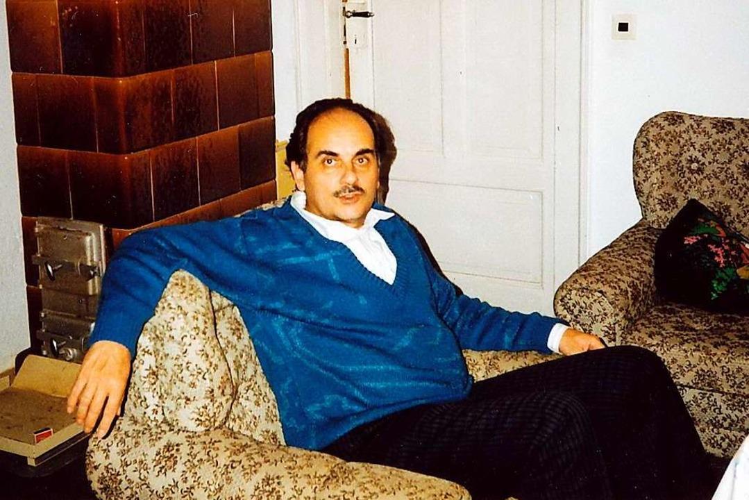 Jochen Himpele bei seinem ersten Besuch in Arnsdorf 1990  | Foto: Privat