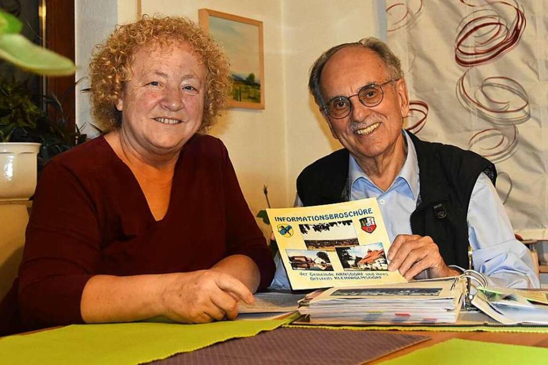 Maria und Jochen Himpele in ihrer Wohnung in Denzlingen  | Foto: Sebastian Krüger