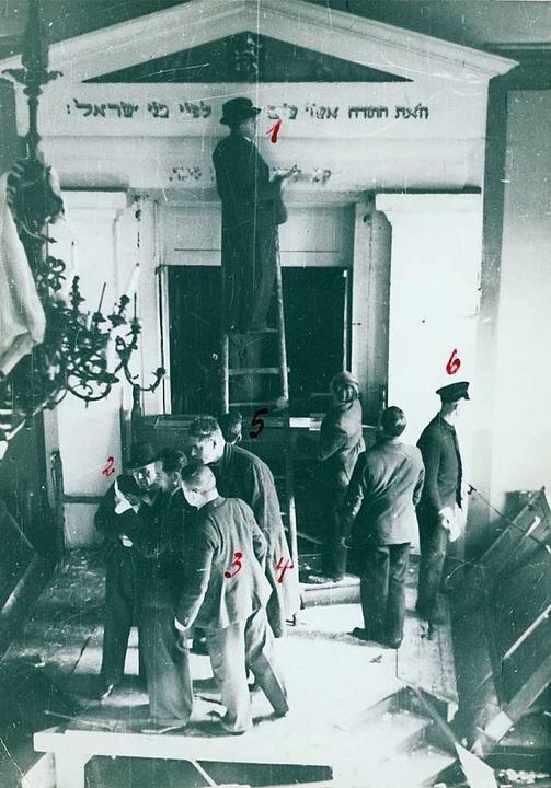 Die Zerstörung der Lörracher Synagoge ...ericht zur Identifizierung der Männer.  | Foto: Staatsarchiv Freiburg