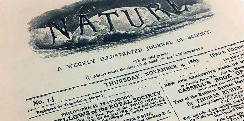 Die Erstausgabe von Nature im November 1869  | Foto: nature