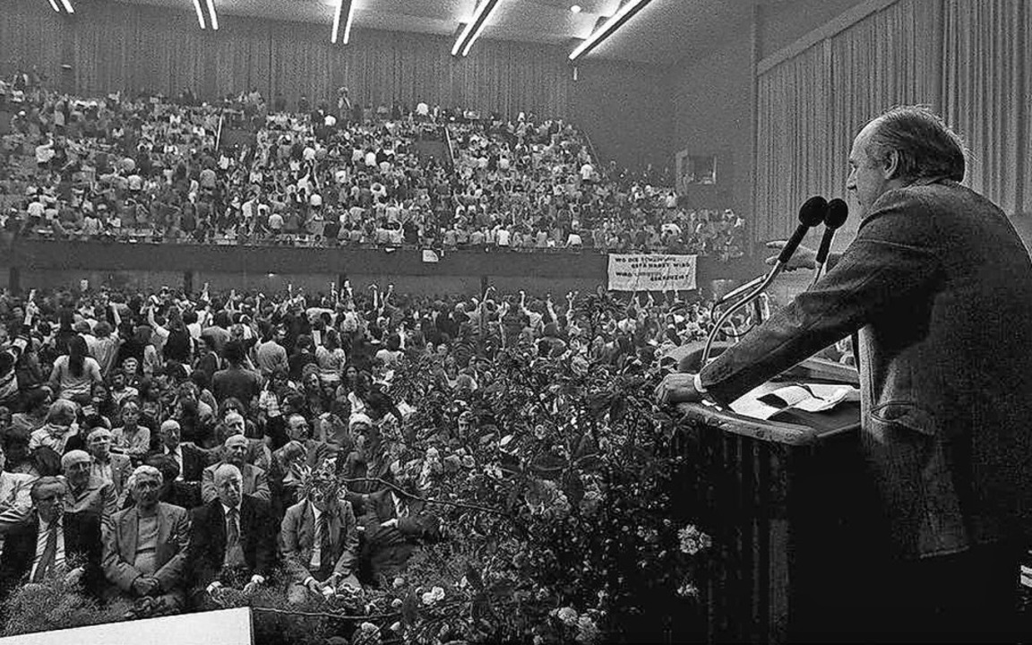 Bürgerversammlung Wyhl in der Stadthalle  | Foto: Landesarchiv BW/Marlies Decker