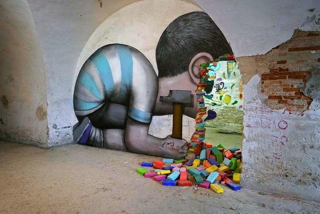 In Neuf-Brisach zeigt das Mausa Streetart hinter dicken Mauern