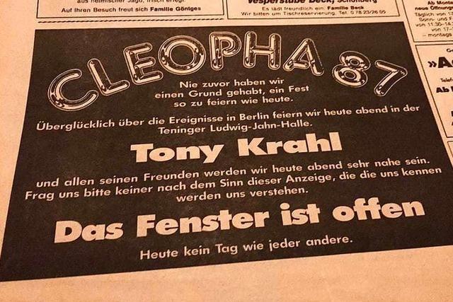 Vor 30 Jahren spielte City-Sänger Toni Krahl in Teningen