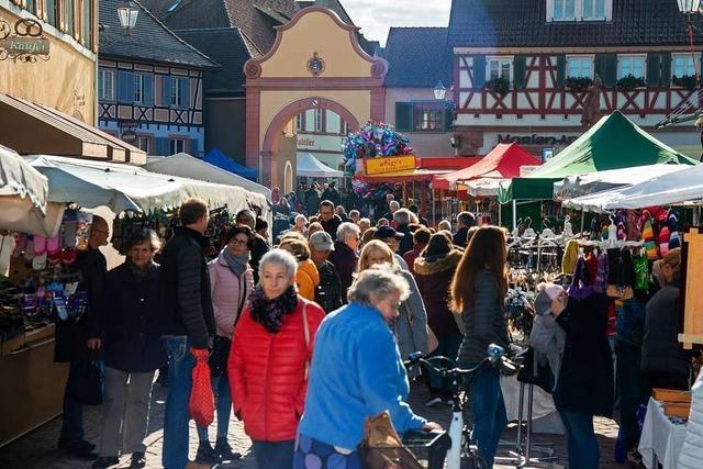 Der traditionelle Ettenheimer Martinimarkt ist wieder ein Erfolg