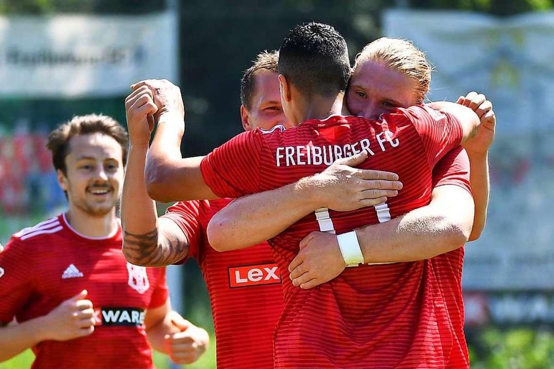 Die Erfolgsserie des Freiburger FC reißt nicht ab.  | Foto: Achim Keller