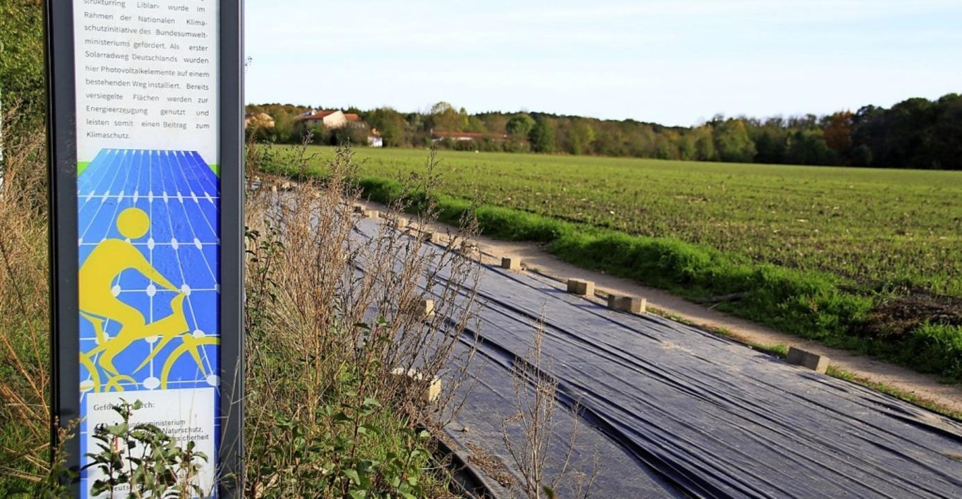 Der gesperrte Solarweg in Erftstadt   | Foto: Steve Przybilla
