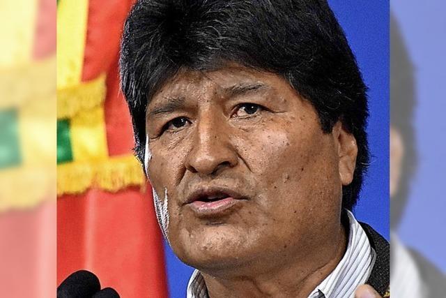 In Bolivien erklärt Morales seinen Rücktritt