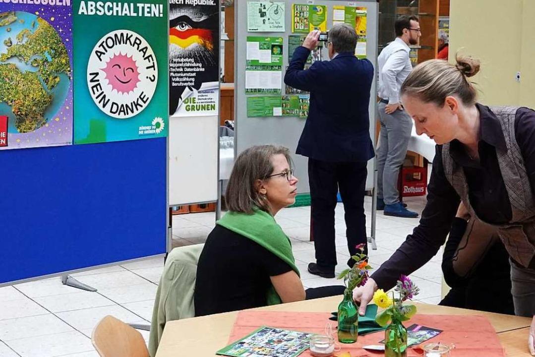 Mit Umweltschutz bei den Wählern punkt...stellung Plakate und andere Dokumente.    Foto: hege