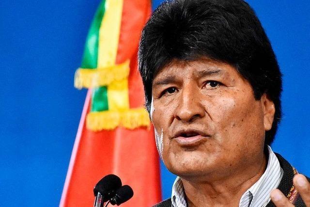 Boliviens Präsident tritt zurück – und spricht von Putsch