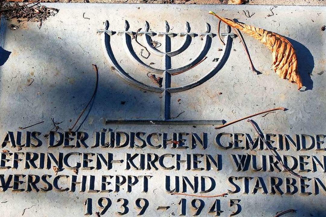 Gedenktafel auf dem jüdischen Friedhof in Kirchen  | Foto: Reiner Bauer