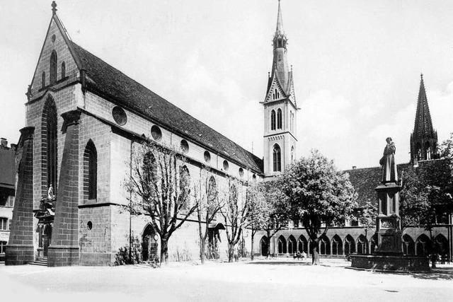 Im Kloster der Freiburger St. Martinskirche soll das Schwarzpulver entdeckt worden sein