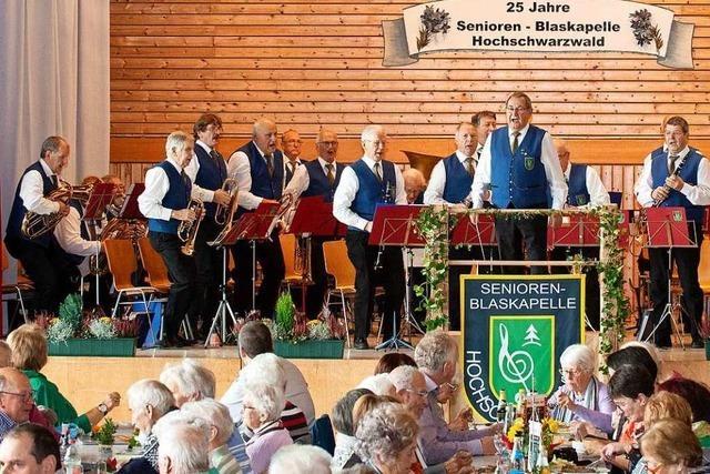 25 Jahre Seniorenblaskapelle Hochschwarzwald