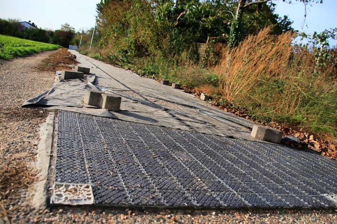 Gesperrter Solarweg in Erftstadt  | Foto: Steve Przybilla