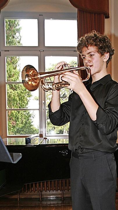 Michel Sperling an der Trompete    Foto: Aloisia Zell