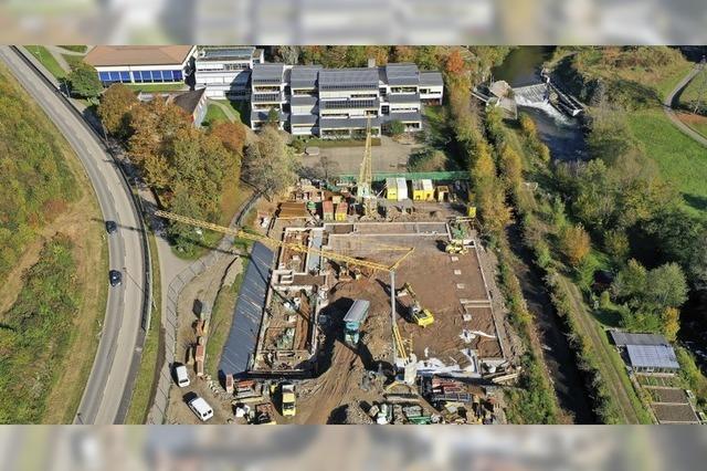 Großbaustelle in Schönau aus der Vogelperspektive