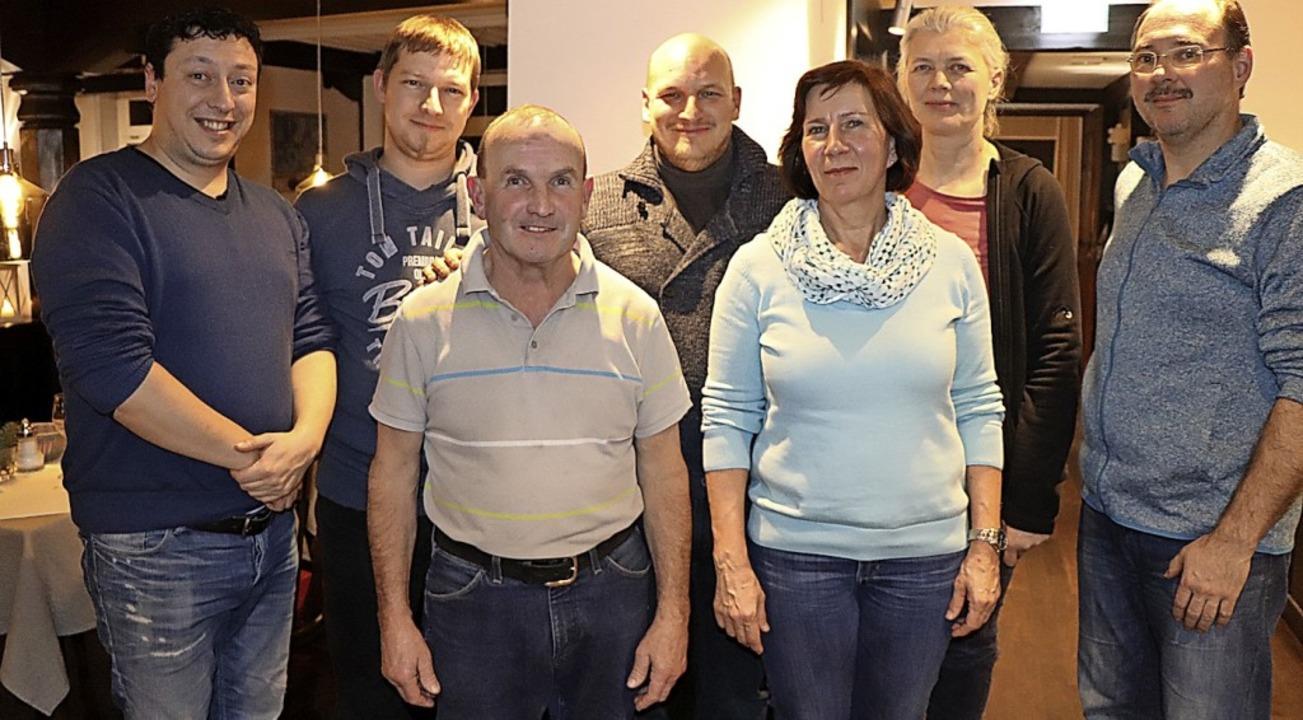 Der Vorstand  (von links): Leonid Buck...rtfelder und Vorsitzender Kai Virnich.  | Foto: Dieter Maurer