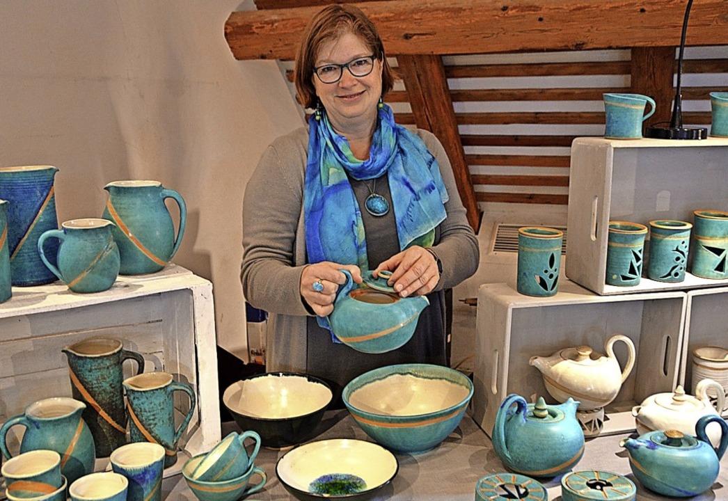 Priska Schubert präsentierte ihre Keramik.   | Foto: Horatio Gollin