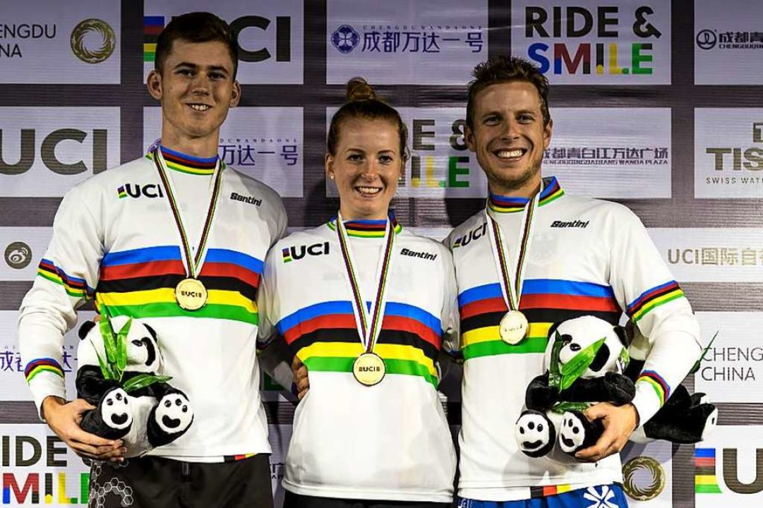 Drei deutsche Weltmeister auf einen Bl...oren ) und  Nina Reichenbach (Frauen).  | Foto: Jannis Oinginfo@jannisoing.de