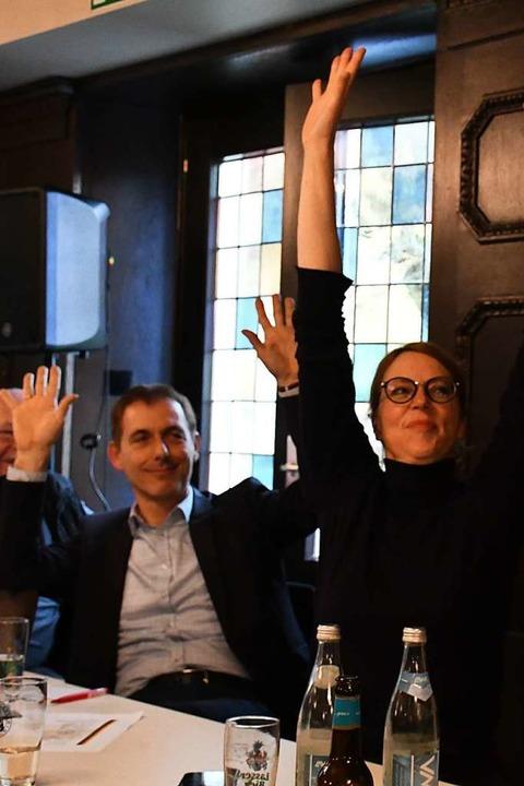 OB Jörg Lutz und Bürgermeisterin Monika Neuhöfer-Avdic  | Foto: Barbara Ruda