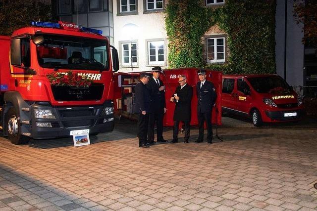 Freiwillige Feuerwehr Heitersheim stellt zwei neue Fahrzeuge in Dienst