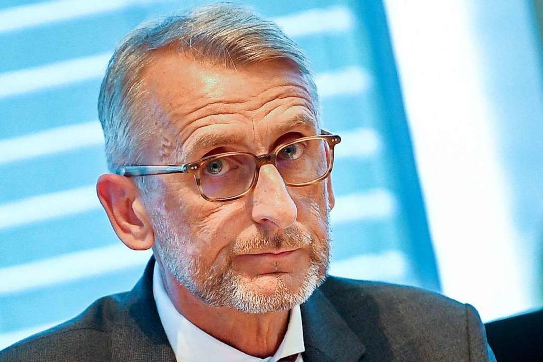 Der Lörracher CDU-Politiker Armin Schu...ie Rückkehr von IS-Anhängern gerüstet.  | Foto: Britta Pedersen