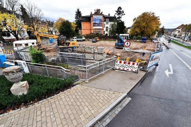 An der Goethestraße beginnen Bauarbeiten für zwei Wohn- und Geschäftshäuser