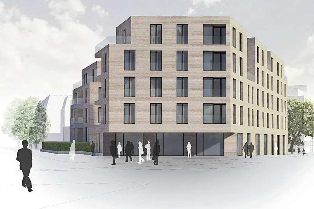 Der Neubau zwischen Goethestraße (link...Zeller/Eisenberg-Architekten basieren.  | Foto: privat