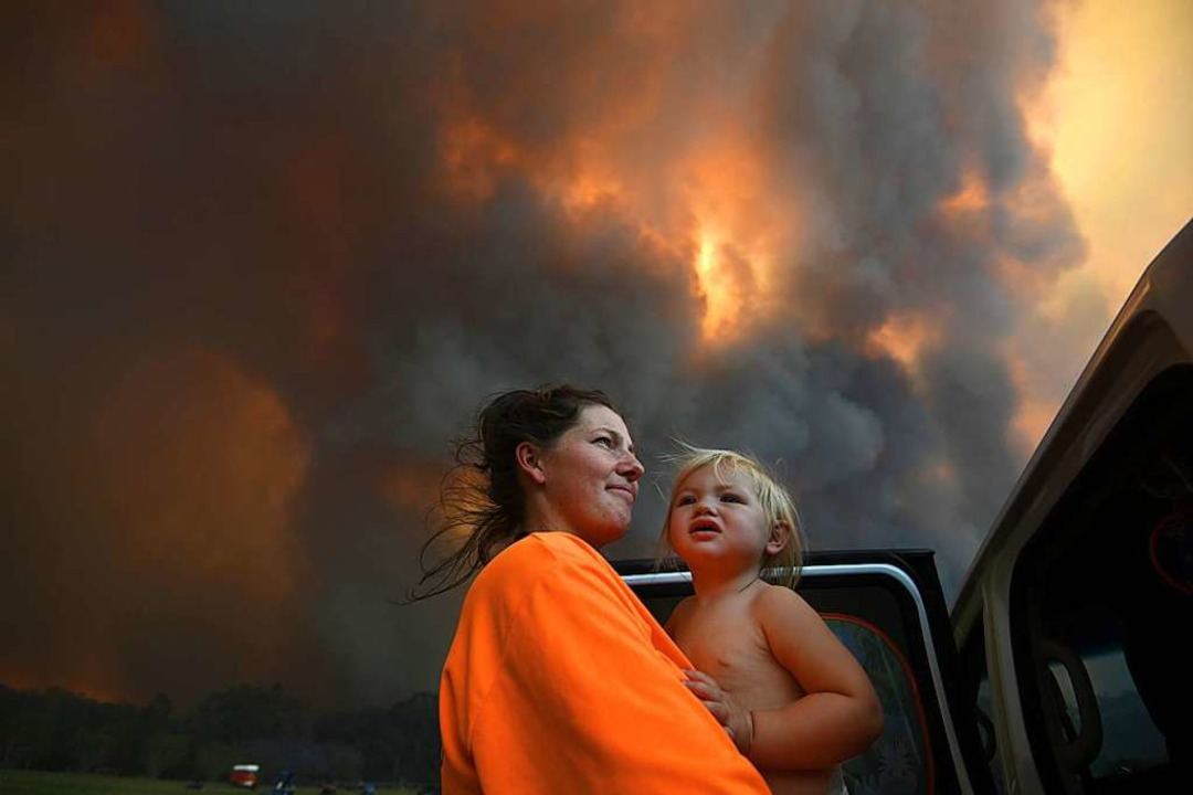 Buschfeuer in Australien  | Foto: Dan Peled (dpa)