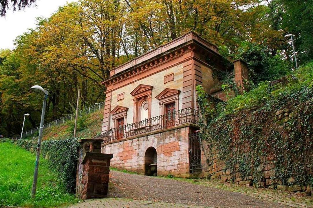 Am Aufgang zum Schlossberg liegt der 1...s 1876 errichtete Trinkwasserbehälter.    Foto: Badenova